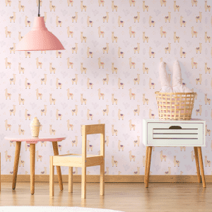Lilo Llama Lavender | Wallpaper Styled Room