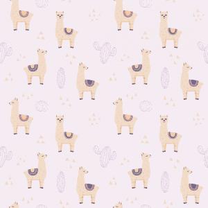 Lilo Llama Lavender | Wallpaper Swatch
