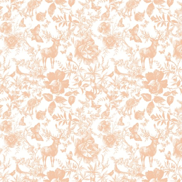 Enchanted Forest Peaches & Cream | Wallpaper Swatch