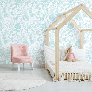 Enchanted Forest Minted | Wallpaper Styled Room