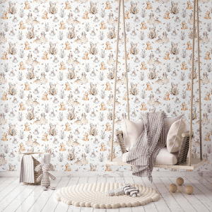 Don't Grow Up Woodland Animals   Wallpaper Styled Room