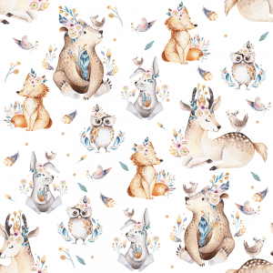 Don't Grow Up Woodland Animals | Wallpaper Swatch