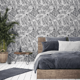 Charcoal Palms - Wallpaper