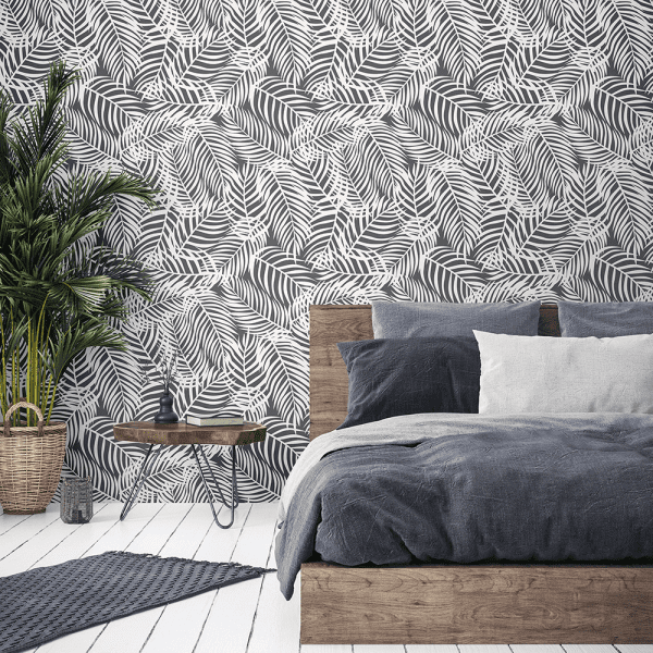 Charcoal Palms | Wallpaper Styled Room