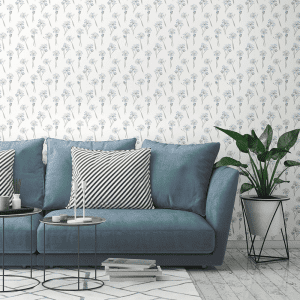 Agapanthus White | Wallpaper Styled Room