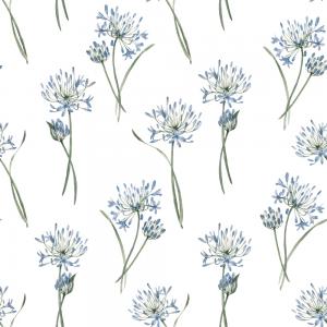 Agapanthus White | Wallpaper Swatch