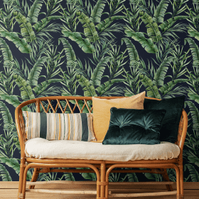 Moody Jungle   Wallpaper Styled Room