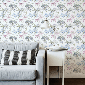 Spring Posy   Wallpaper Styled Room