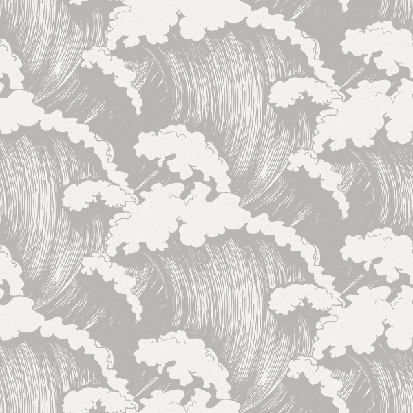 Japanese Waves Dove | Wallpaper Swatch