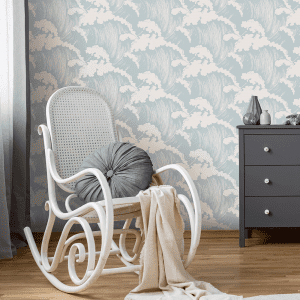 Japanese Waves Seaspray | Wallpaper Styled Room