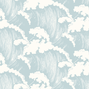 Japanese Waves Seaspray | Wallpaper Swatch