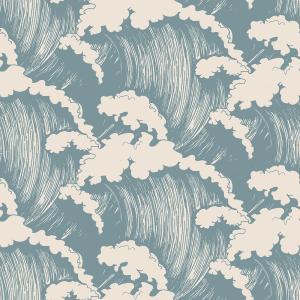 Japanese Waves Steel | Wallpaper Swatch