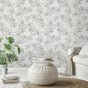 Silver Gum   Wallpaper Styled Room