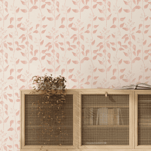 Trailing Gumleaf Blush | Wallpaper Styled Room