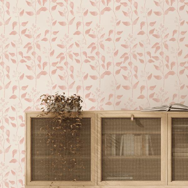 Trailing Gumleaf Blush | Wallpaper Styled Room