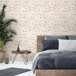 Trailing Gumleaf Natural | Wallpaper Styled Room