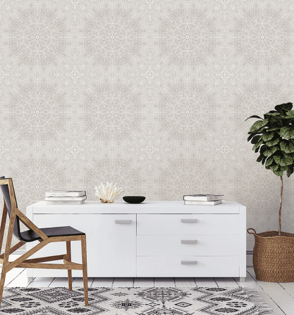 Mandala Whitewash | Wallpaper Styled Room