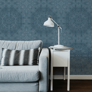 Mandala Indigo  Wallpaper Styled Room
