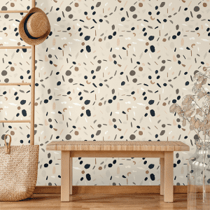 Terazzo Cookie Dough   Wallpaper Styled Room