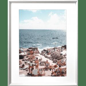 La Dolce Vita 03   White Framed Artwork