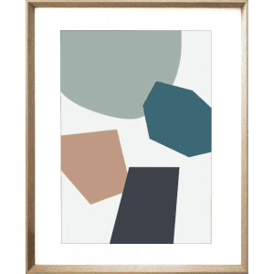 Terazzo Crush 01 | Cashew Framed Print