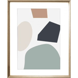 Terazzo Crush 04 | Cashew Framed Print