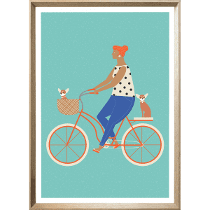 Sunday Funday 02   Cashew Deep Dish Framed Poster