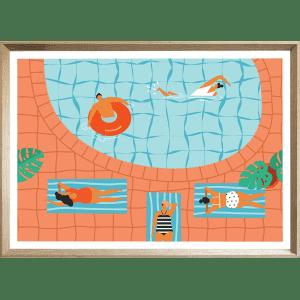 SUNDAY 09 XL   Framed Poster Cashew Deep Dish