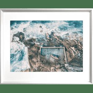 Take me to the sea 01   White Deep Dish Framed Art