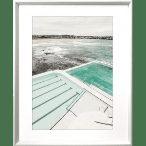 Take me to the sea 02   White Deep Dish Framed Art