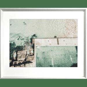 Take me to the sea 03   White Deep Dish Framed Art