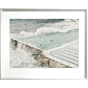 Take me to the sea 04   White Deep Dish Framed Art