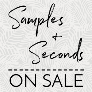 Samples + Seconds on Sale
